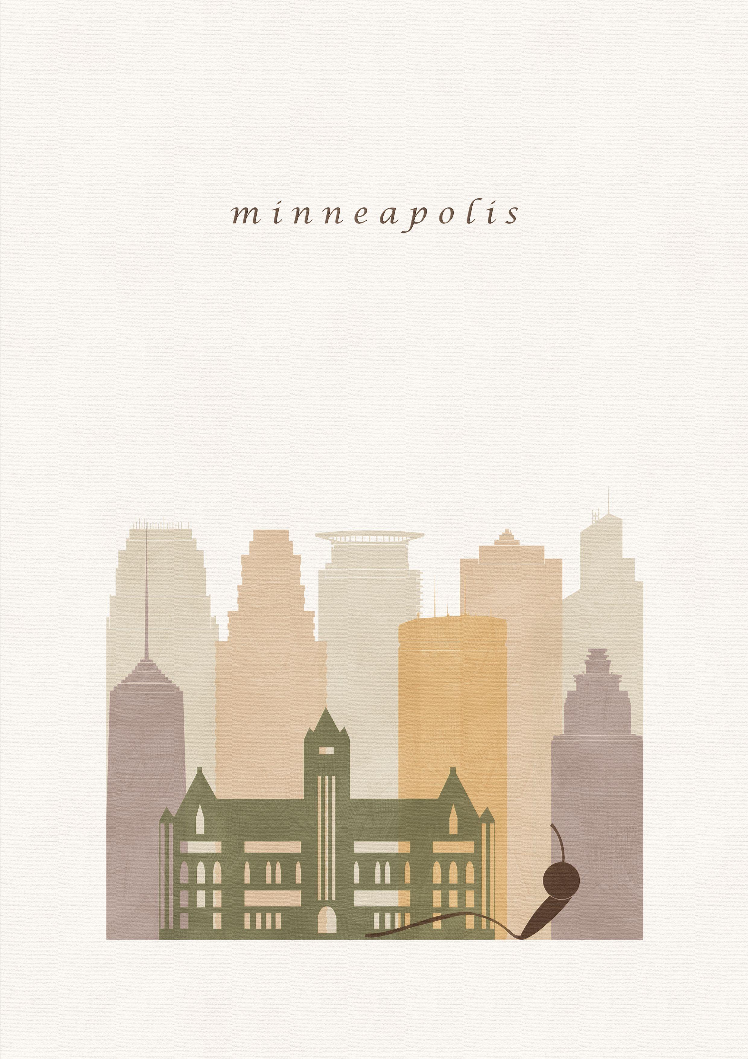 Minneapolis Art Mn Minneapolis Illustration Wall Art Prints Etsy Minimalist Art Print City Prints Travel Artwork