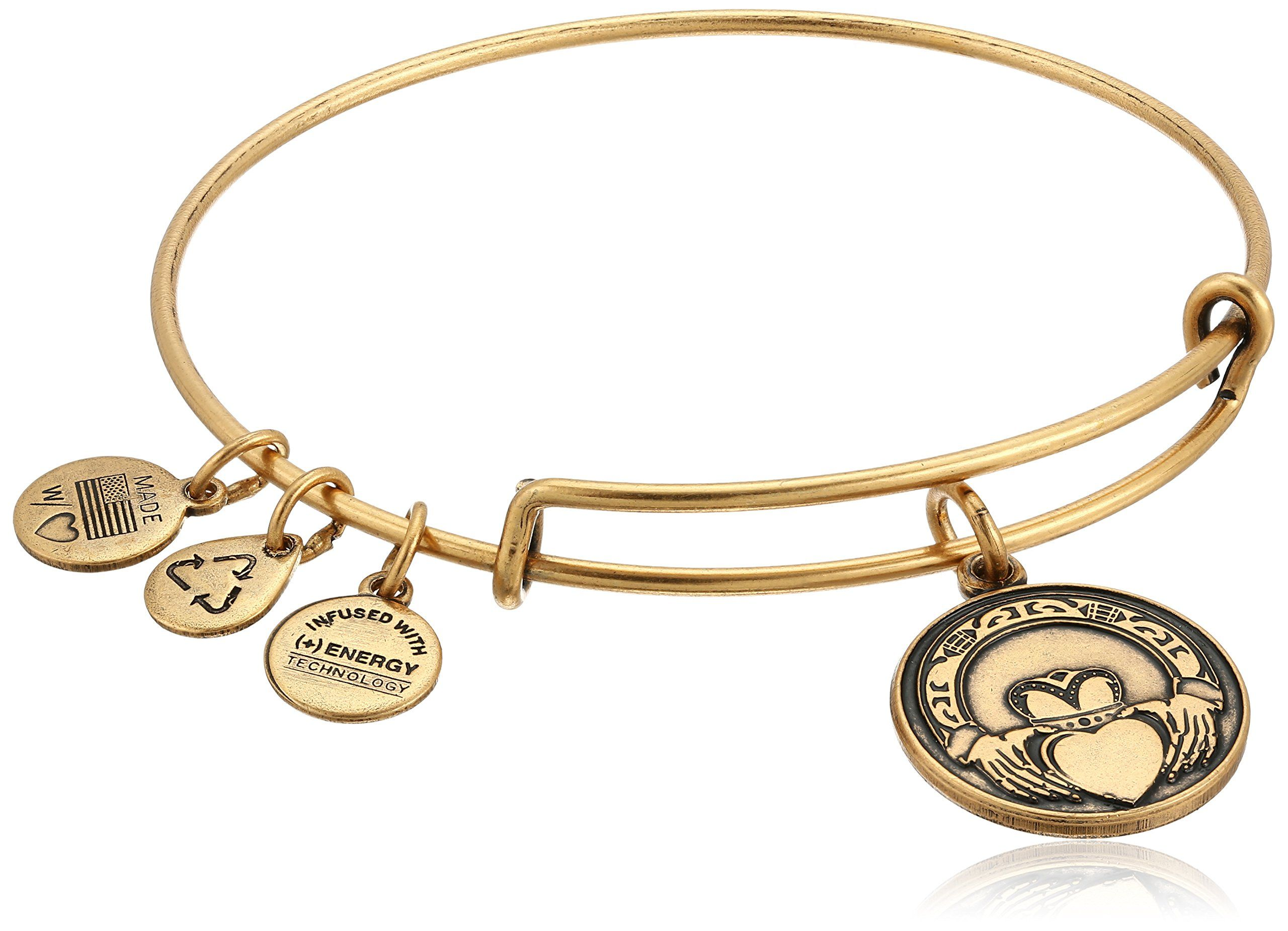 Alex and Ani Claddagh Expandable Charm Bracelet, Rafaelian Gold-Tone