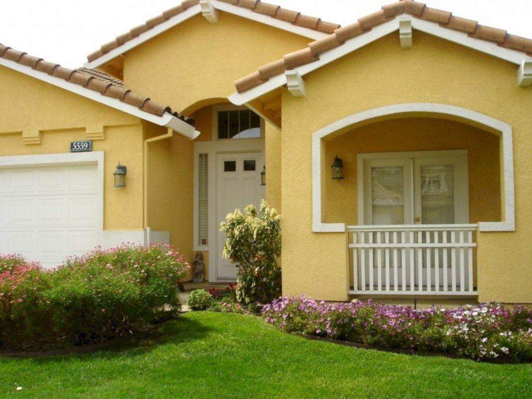 50 Cool Yellow Exterior House Paint Colors Http Bedewangdecor C