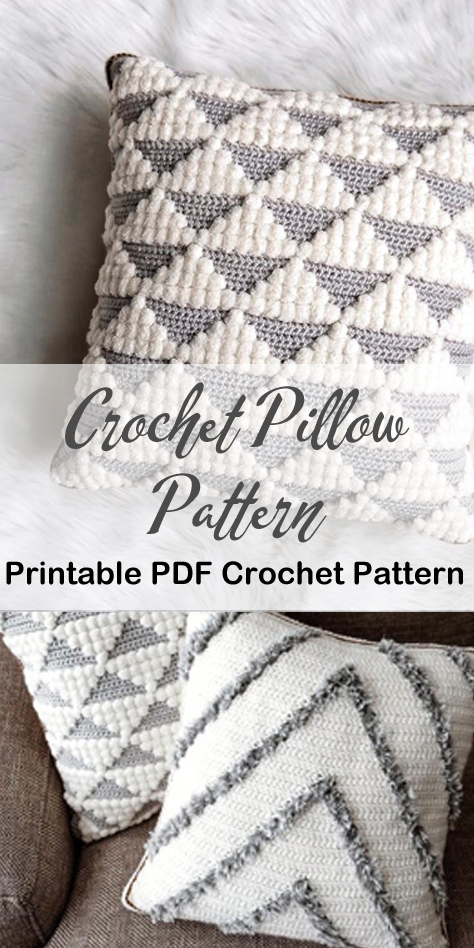 Pillow Crochet Patterns – Update Your Home - A More Crafty Life
