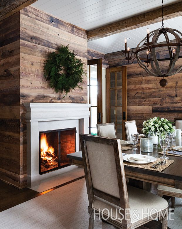 An elegant Indiana limestone mantel lends the