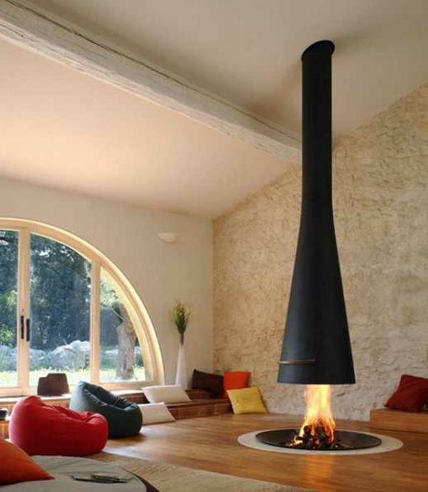 moderne-kamine- in-einer-luxuriösischen-wohnung mit, Wohnzimmer dekoo