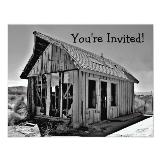 Funny Housewarming Shack Invitations