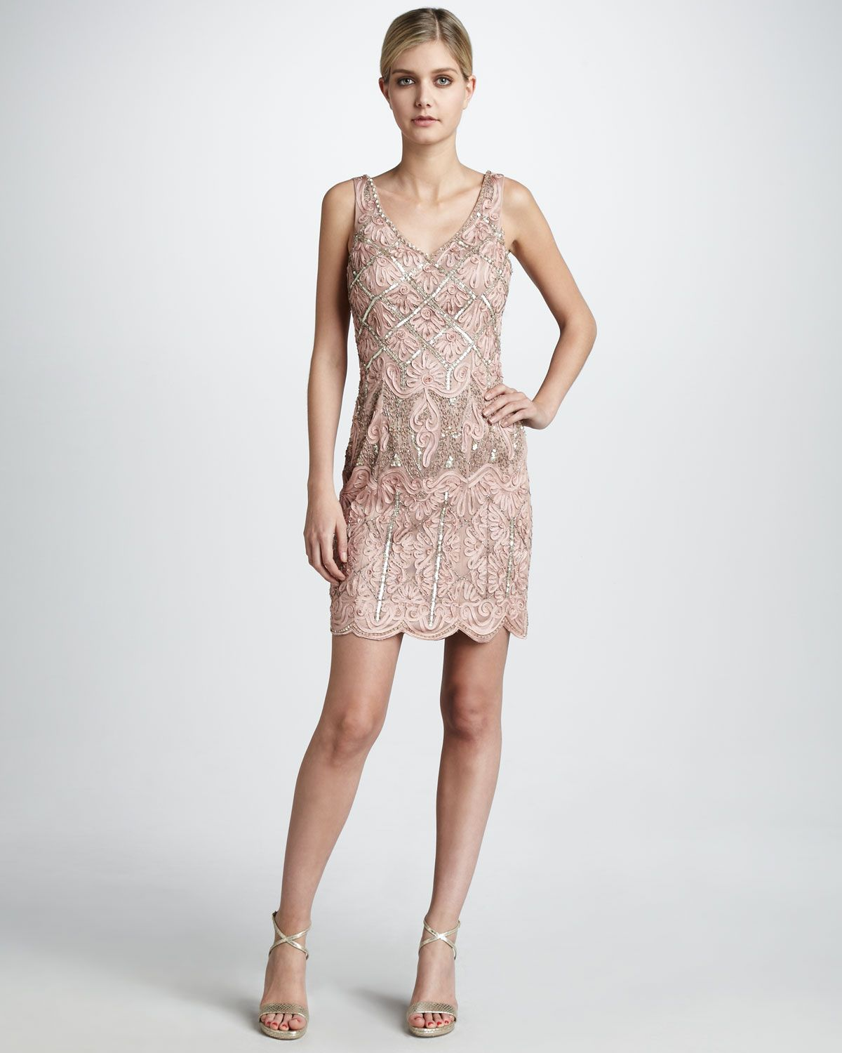 Neiman marcus dresses for weddings  MetallicBeaded Passementerie Dress  Neiman Marcus  FASHION