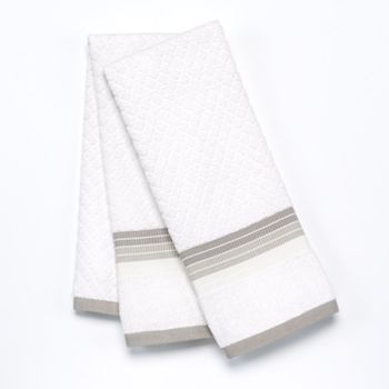 Food Network Ombre 2 Pk Antimicrobial Kitchen Towels With