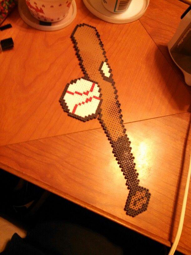 Perler Bead Baseball Bat Ball Perler Bead Art Perler Beads