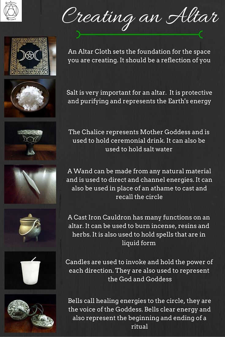 Creating an altar or sacred space                                                                                                                                                     More