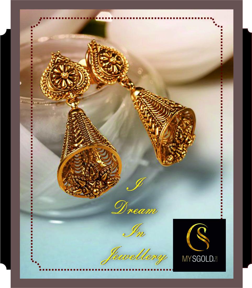Buy Lovely Designs of Gold Earring at Online