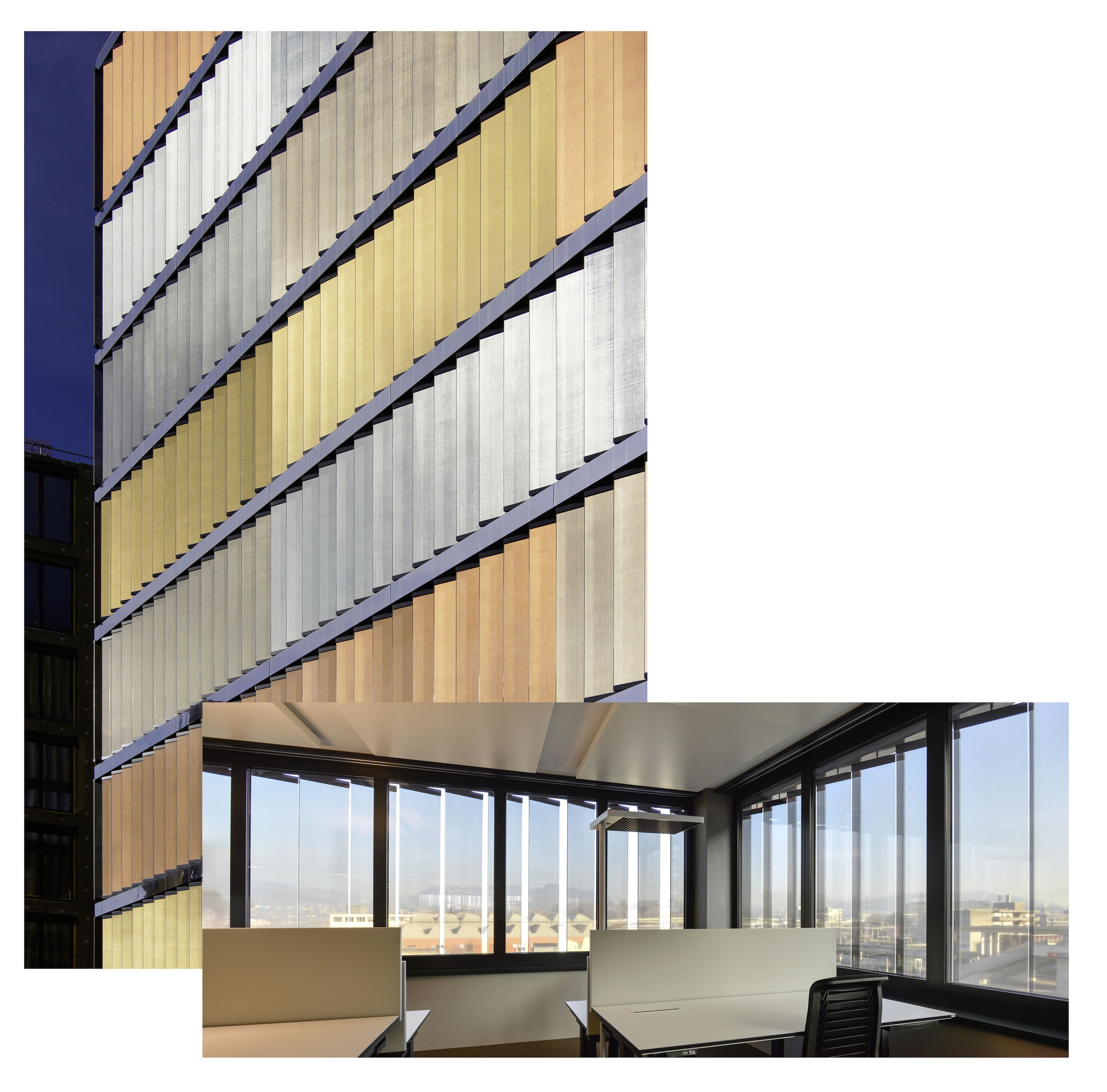 interior and exterior view of the vision fabric panels | sbb