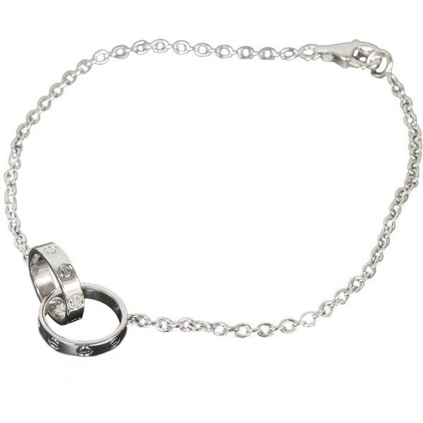 Pre Owned Cartier 18k White Gold Chain Link Baby Love Bracelet 1 569 Liked On Polyvore
