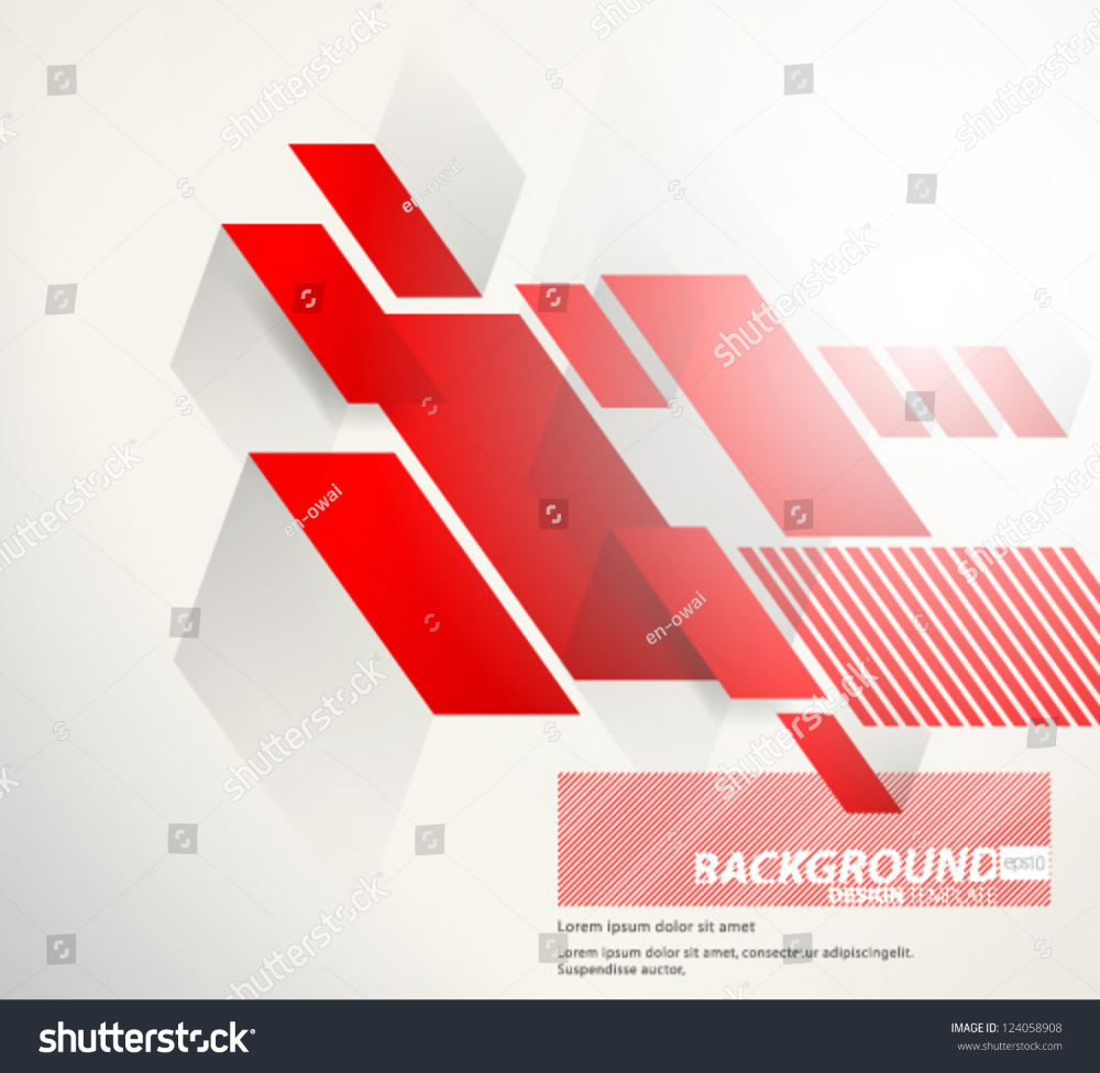 Design Template Eps10 Abstract Red Thick Stock Vector Royalty Free 124058908 Design Template Abstract Templates