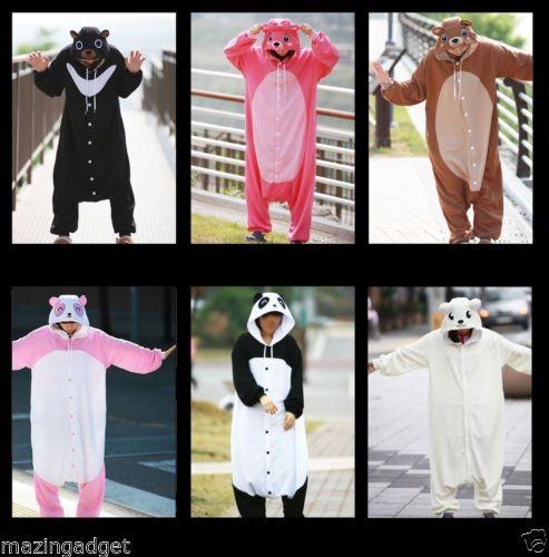 hot halloween costumes adult animal pajamas kigurumi bodysuit collection5 bear ebay http - Ebaycom Halloween Costumes