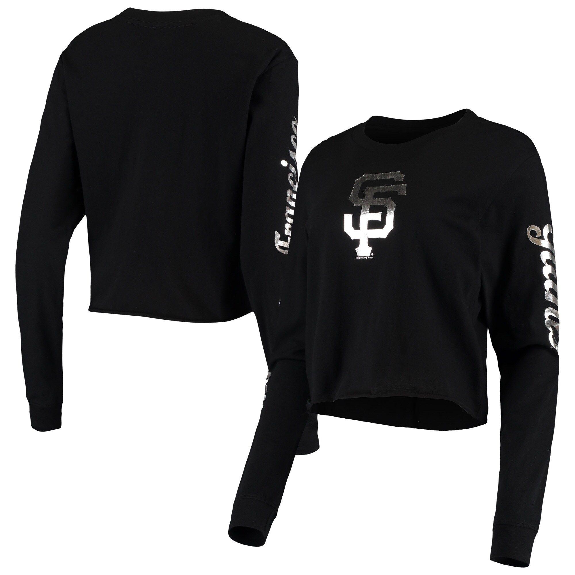 Predownload: Women S San Francisco Giants New Era Black Baby Jersey Long Sleeve Cropped T Shirt Crop Tshirt San Francisco Giants Black Shirt [ 2000 x 2000 Pixel ]