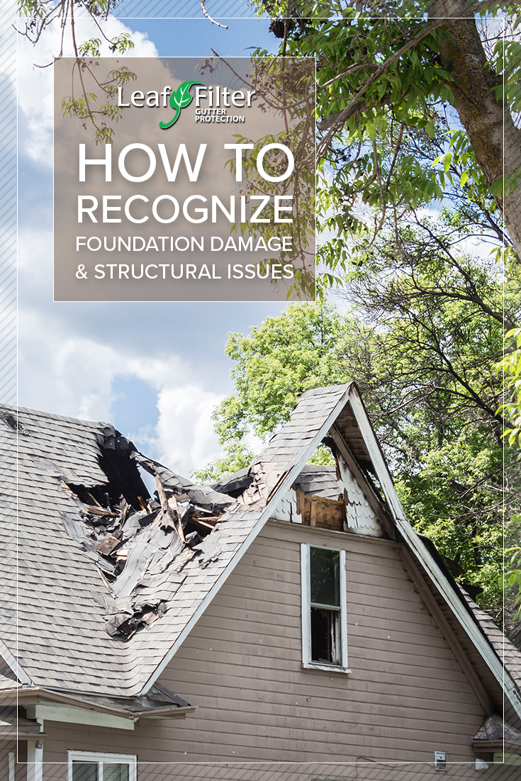 Learn how to recognize foundation damage and structural issues in your home right away to prevent severe and costly repairs later on.