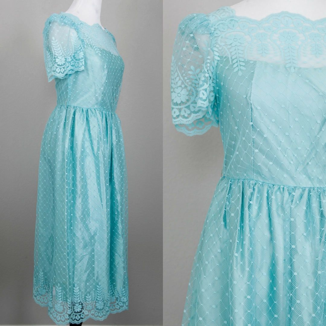 JCPenney Bridesmaid Gown | Size 9/10 | Blue/Green | Wedding | Bridal ...