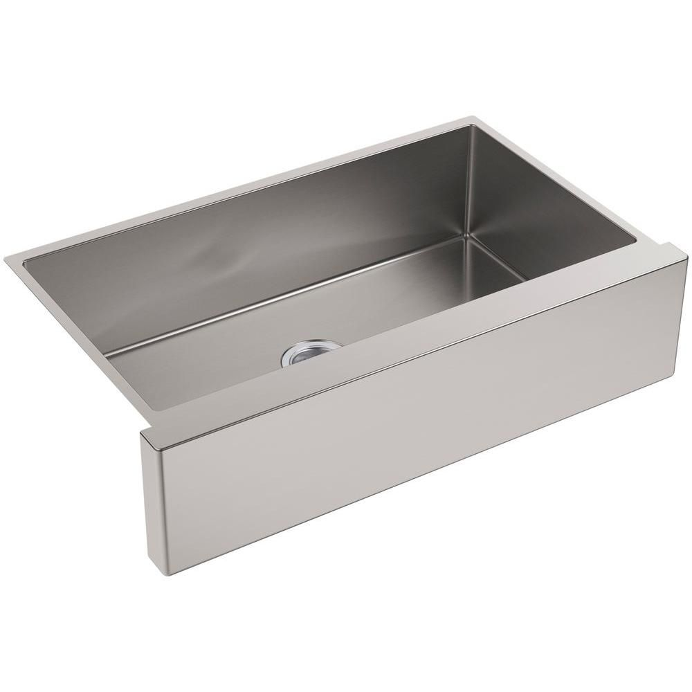 Strive Undermount Farmhouse Apron Front Stainless Steel Silver