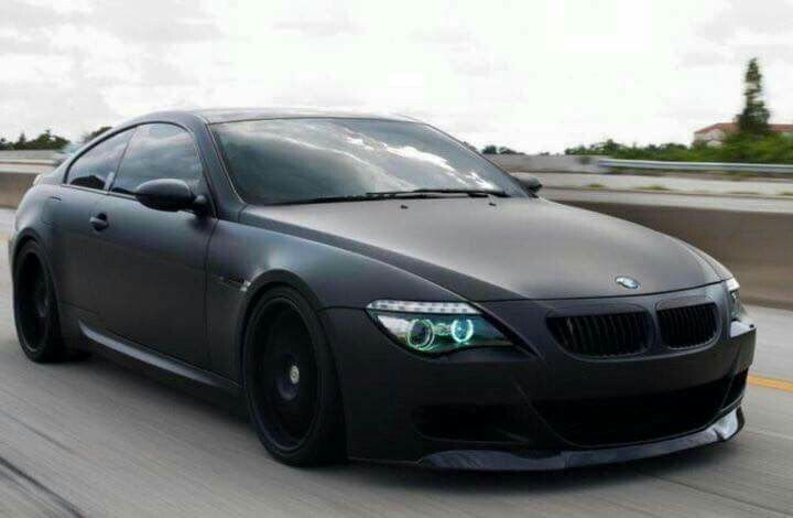 Bmw E63 6 Series Matte Black With Images Bmw Bmw Cars