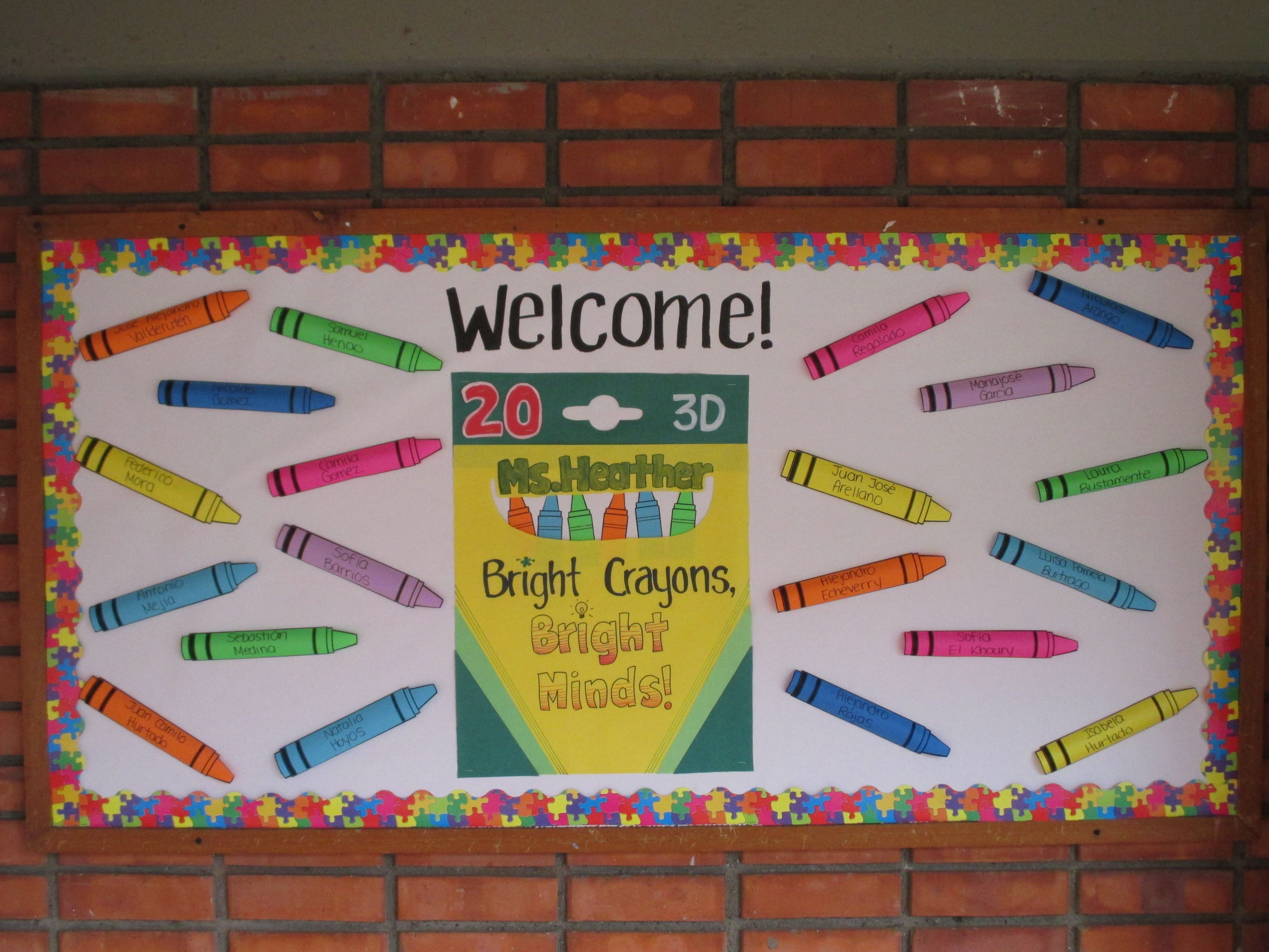 Welcome Back Crayon Bulletin Board Bright Crayons Bright Minds