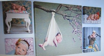 @Alika Faythe Hartmann-Photographer Middle canvas, newborn photo idea I was asking you about for baby #3! :)