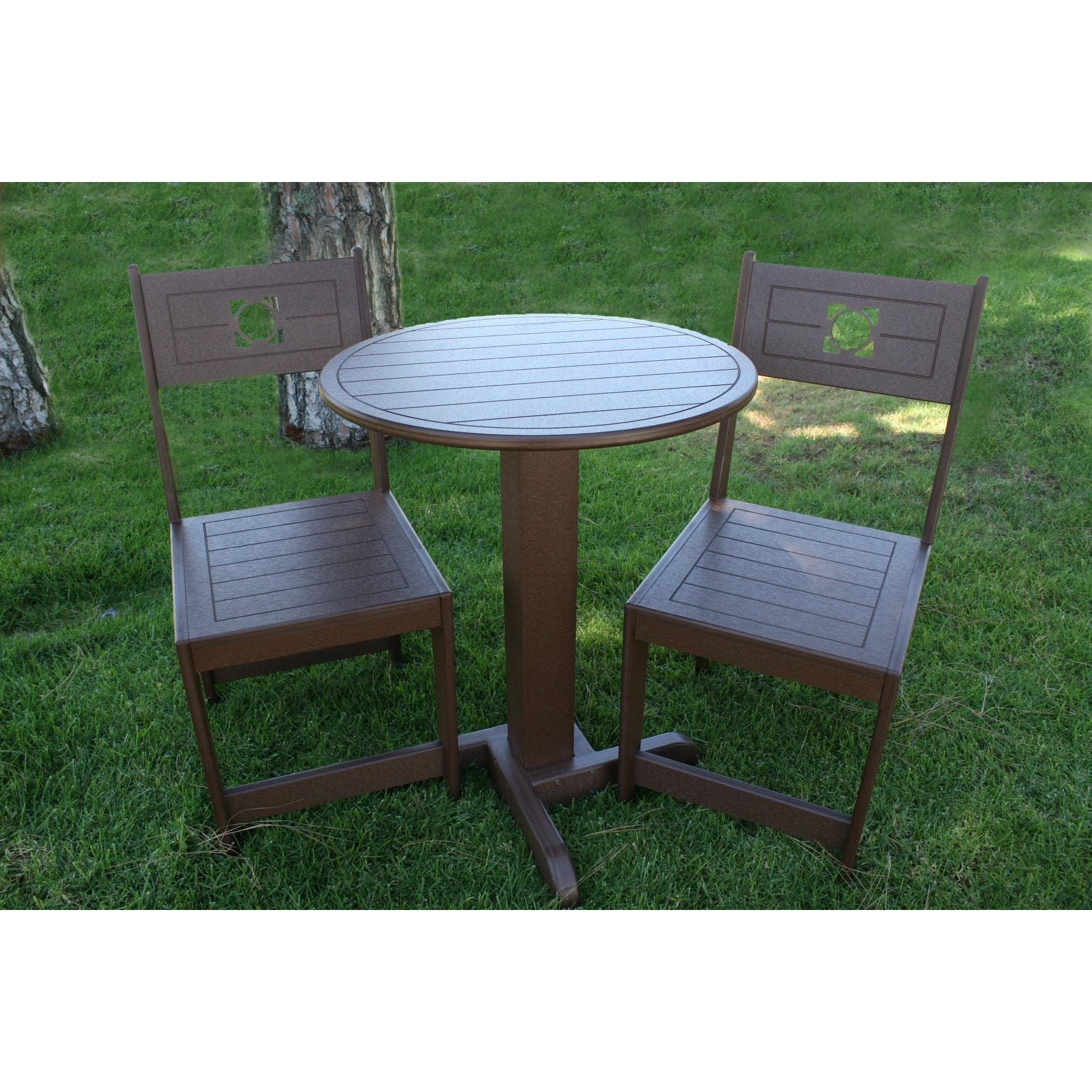Eagle One Commercialgrade Greenwood Cafe Inch Round Bistro - Commercial outdoor bistro table and chairs