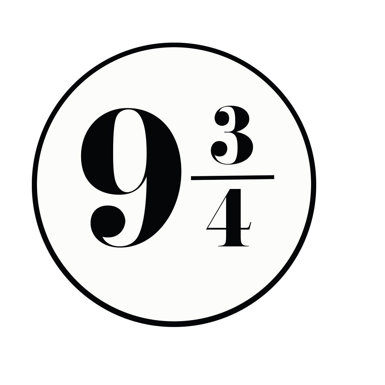 Platform 9 3/4 logo | Harry potter platform, Harry potter stickers ...
