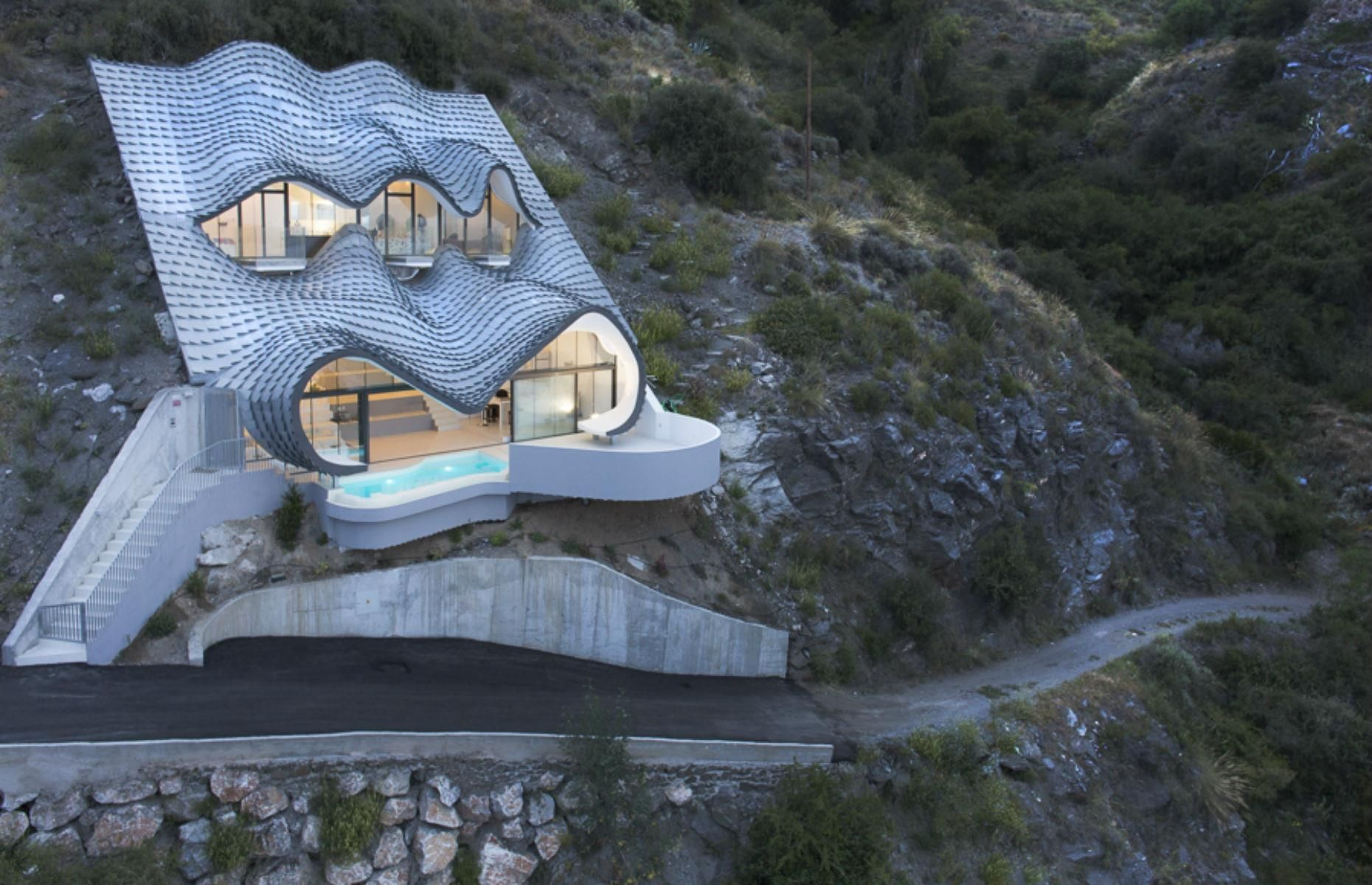 The World S Most Incredible Homes Futuristic Home Cliff House Zinc Roof