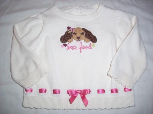 Gymboree Primrose Ribbon Puppy Sweater Free Shipping