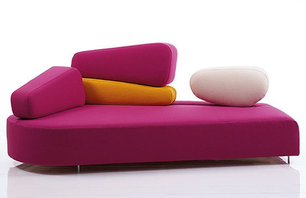Ultra Modern Living Room by Bruehl Pink furniture Modern couch