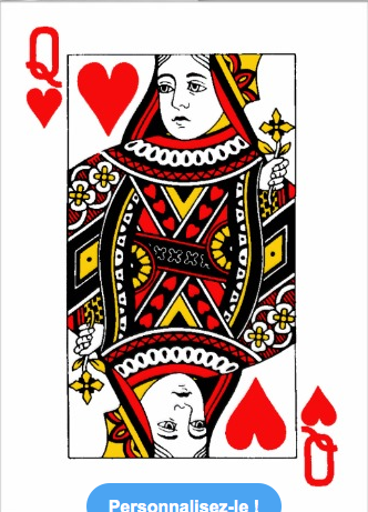 carte dame de coeur Carte a jouer stylisée (With images) | Hearts playing cards