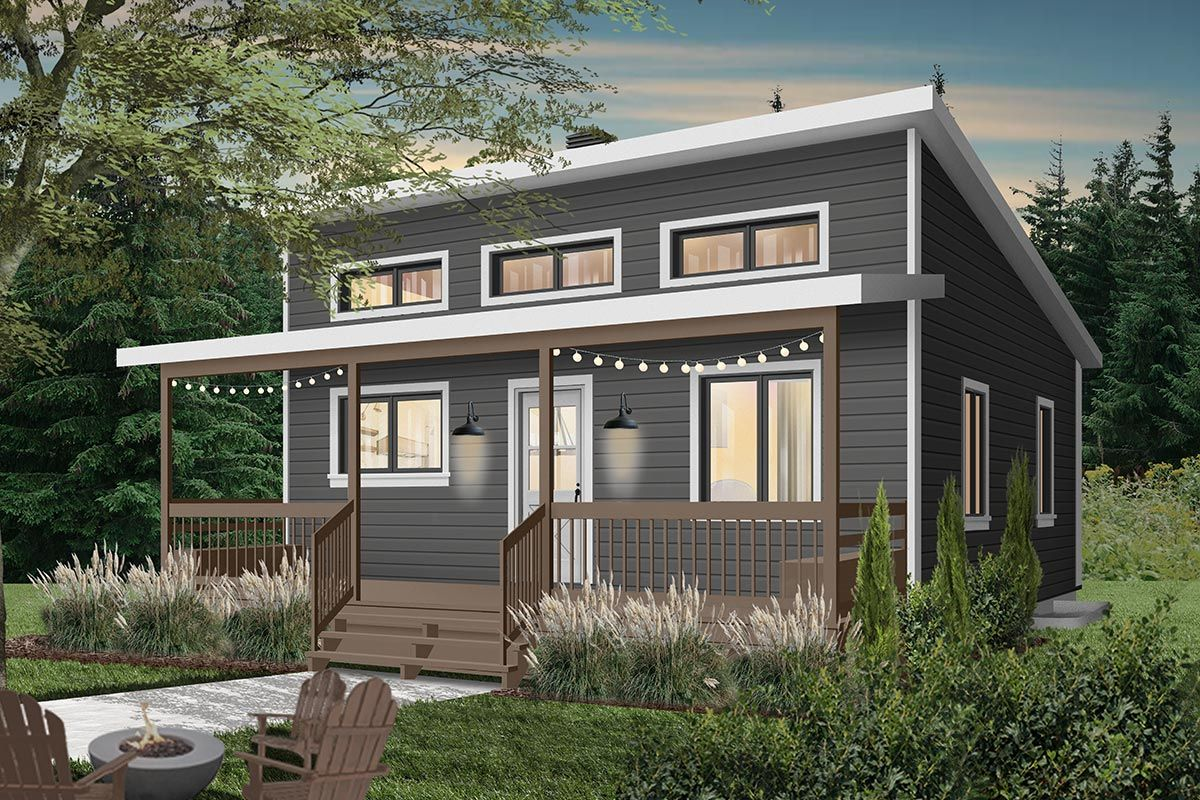 Plan 22457dr Tiny Getaway Home Plan With Options