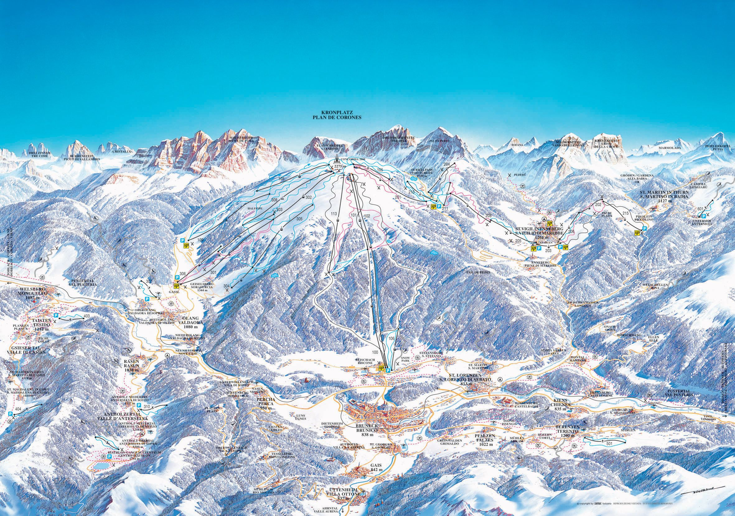 Vsledek obrzku pro sappada ski map jjj Pinterest