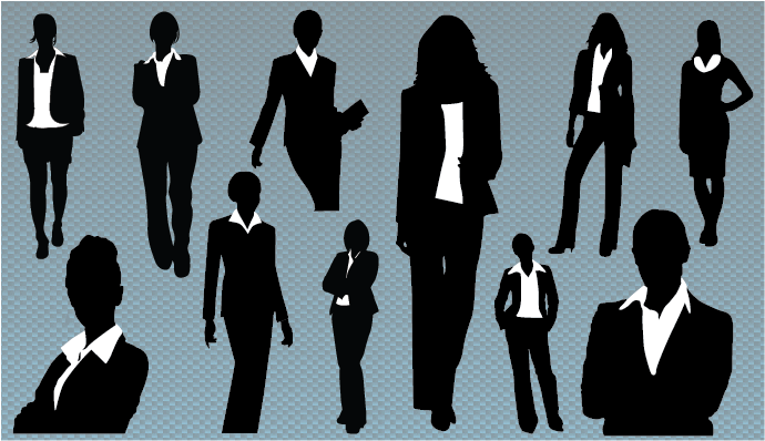 Business Woman Silhouette Vector Png 690 398 Pixels Woman Silhouette Business Women Silhouette Vector