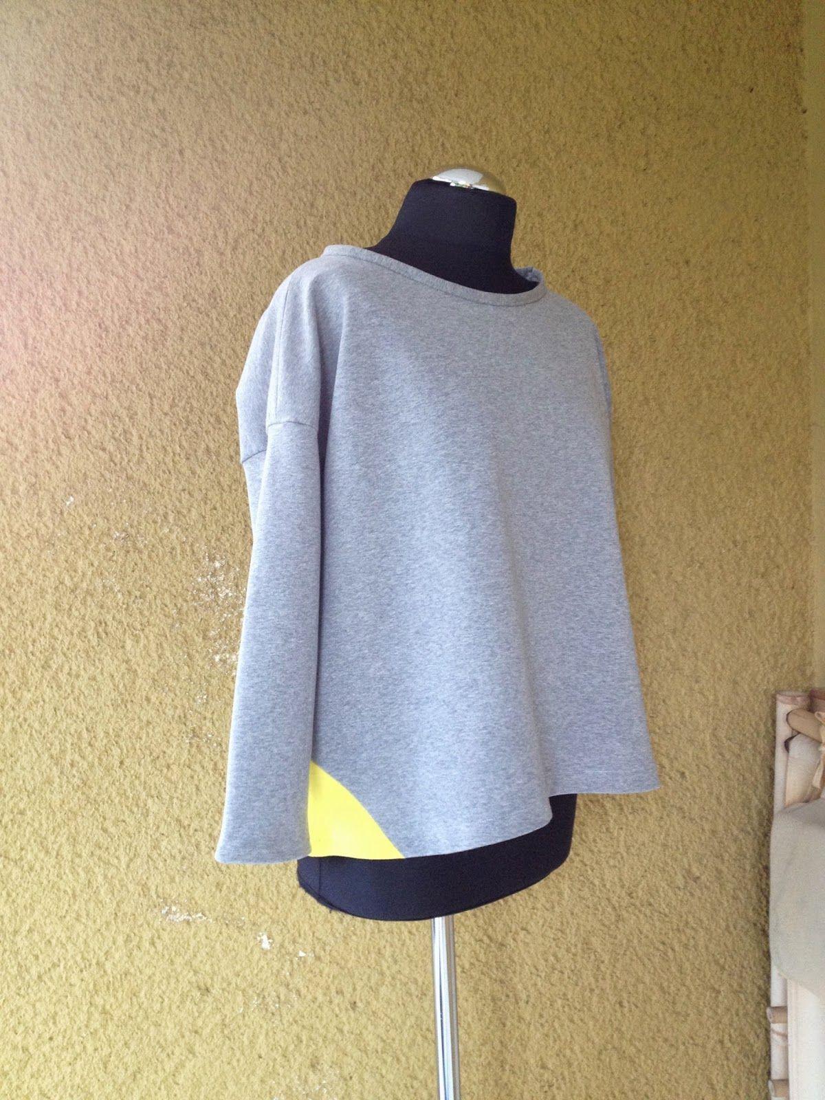 upper palatinate rocks: WOMEN 2014 boxy shirt grey/yellow