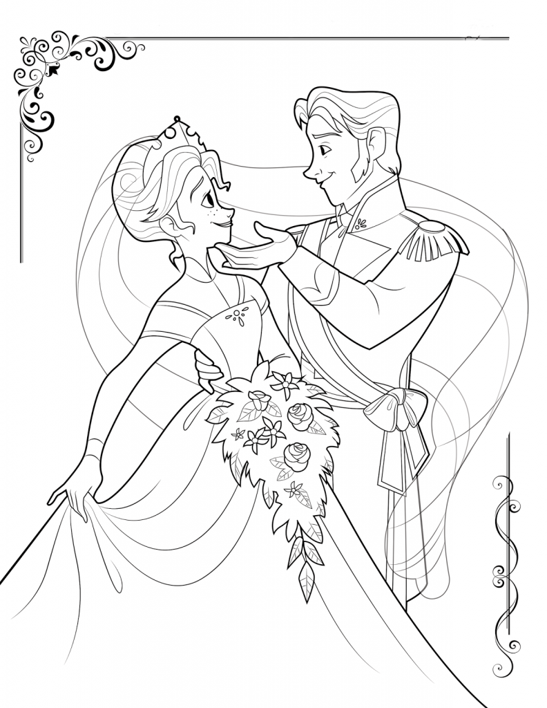 Free Printable Frozen Coloring Pages for Kids - Best Coloring