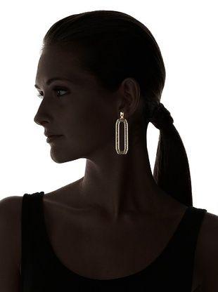 Rebecca Minkoff Women's Pavé Link Earrings