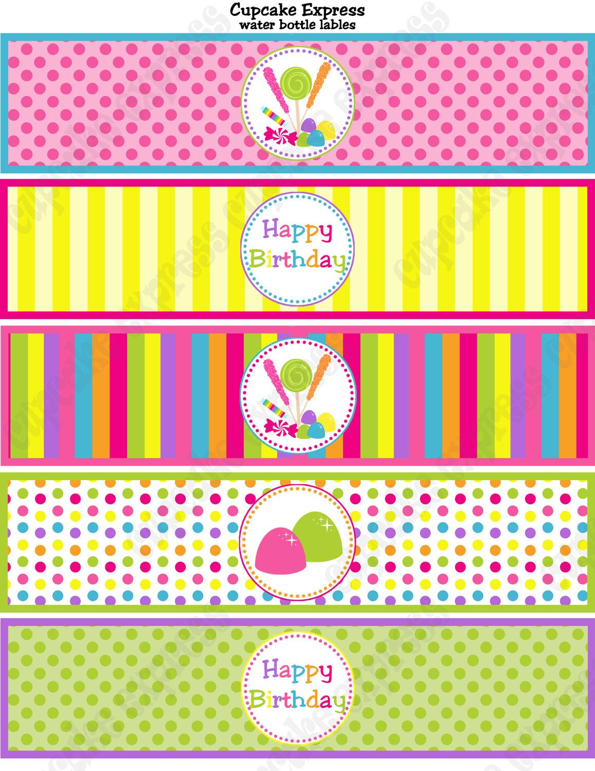 photo relating to Free Printable Water Bottle Labels for Birthday called Graphic consequence for candyland no cost printables Candyland