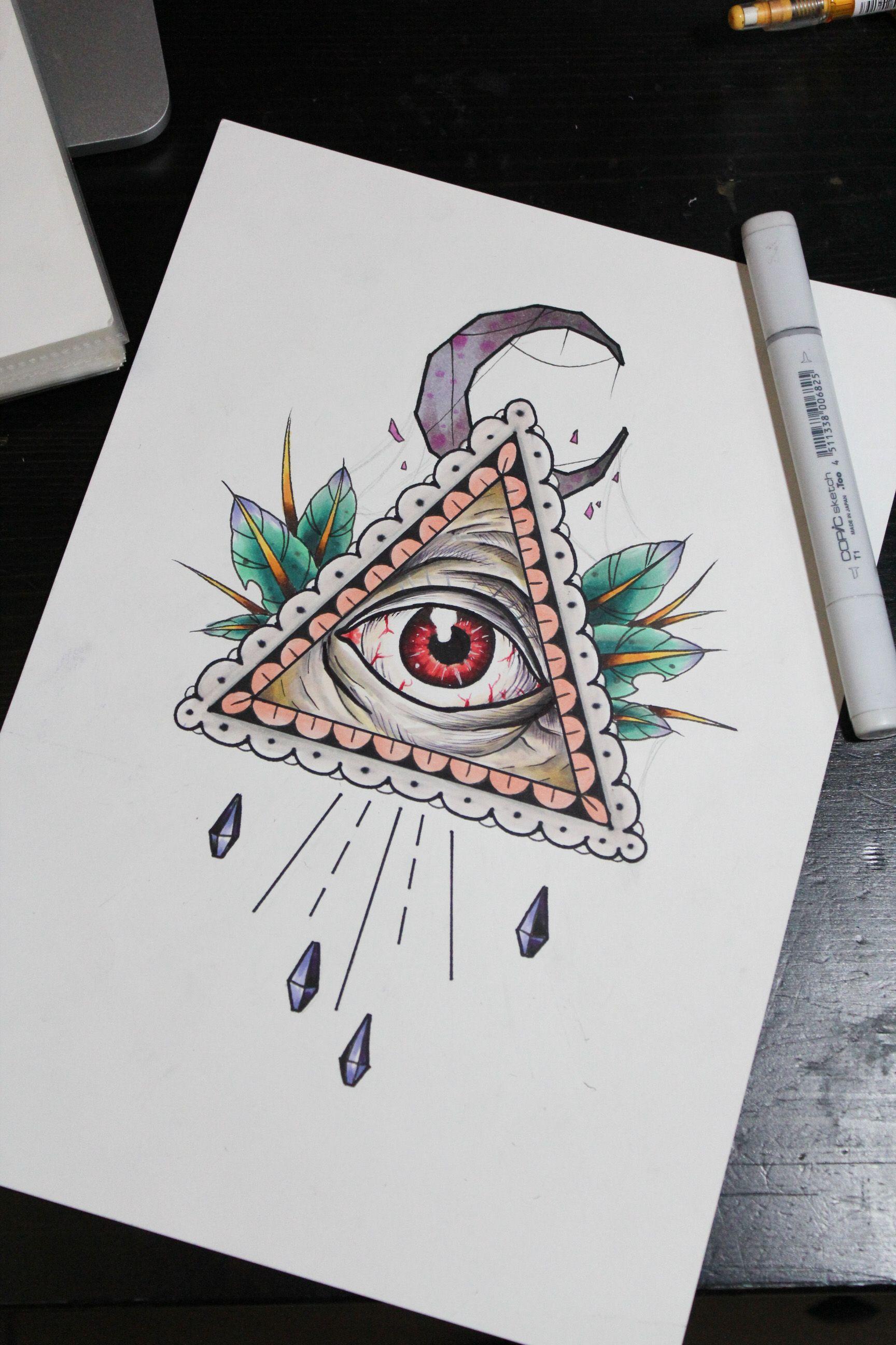 All seeing eye tattoo Eye of providence tattoo Eye