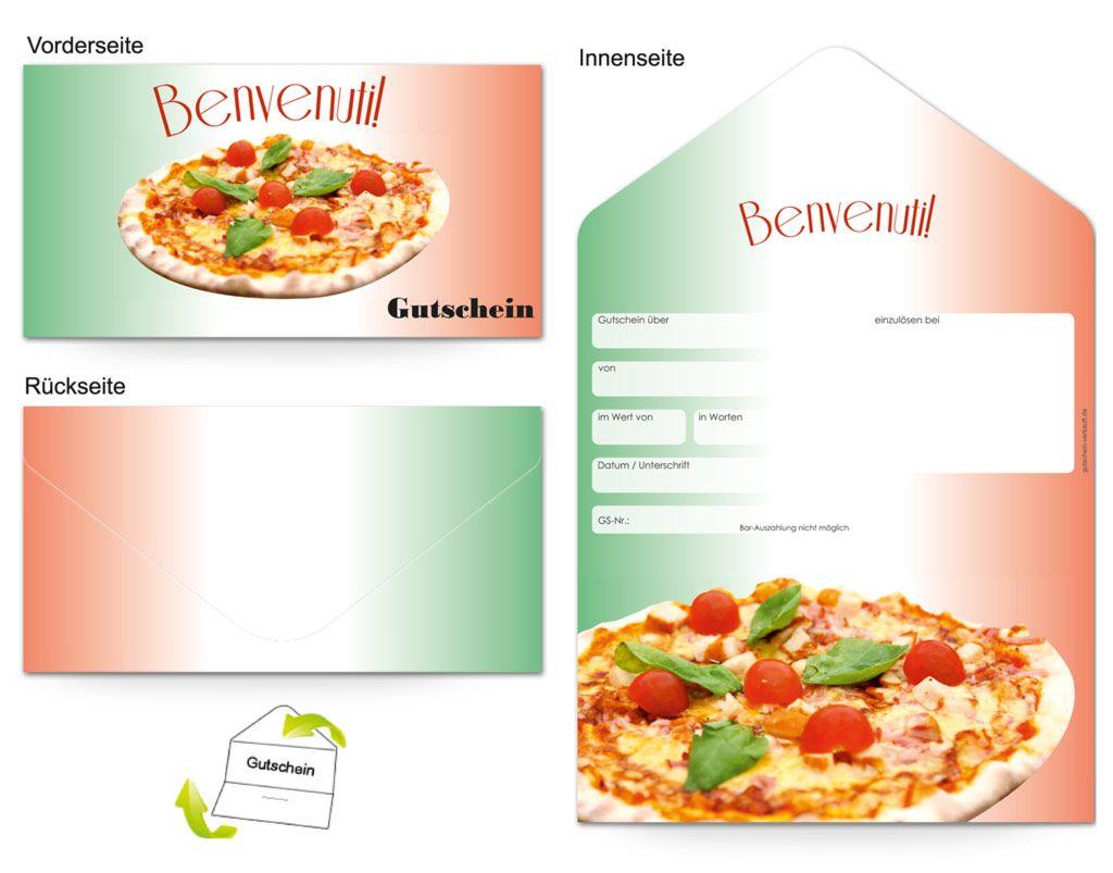 Motiv Pizzabacker Gutscheinvorlagen Gutscheine Gutschein Vorlage Gastronomie