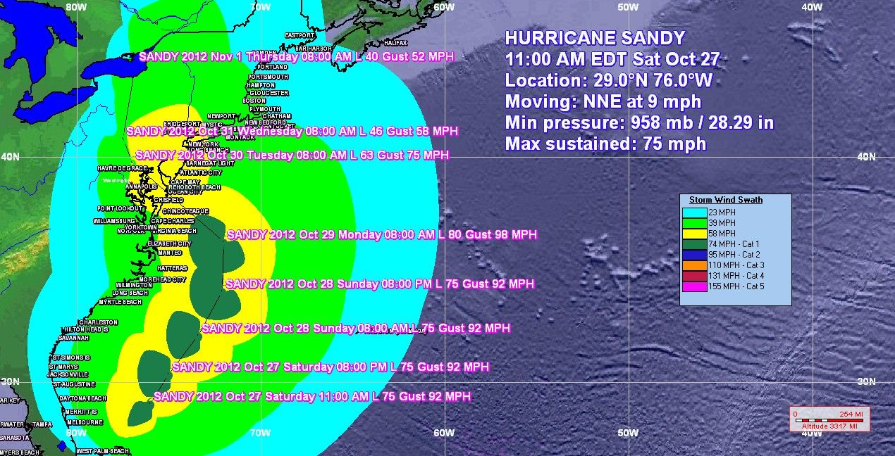 Hurricane Sandy Special Forecast Synopsis Oct 27 2012 Issued 3 00 P M Edt Phfc Hurricane Sandy Hurricane Sandy