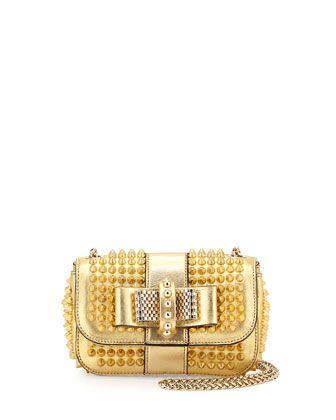 41a01caa965 Sweet Charity Small Spiked Crossbody Bag Golden | Women's Fashion ...
