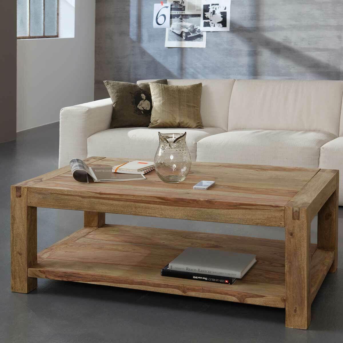 Couchtisch Wohnzimmertisch Holztisch Yoga Sheesham Massiv 120x80 Wolf Möbel Coffee Table Furniture Home Decor