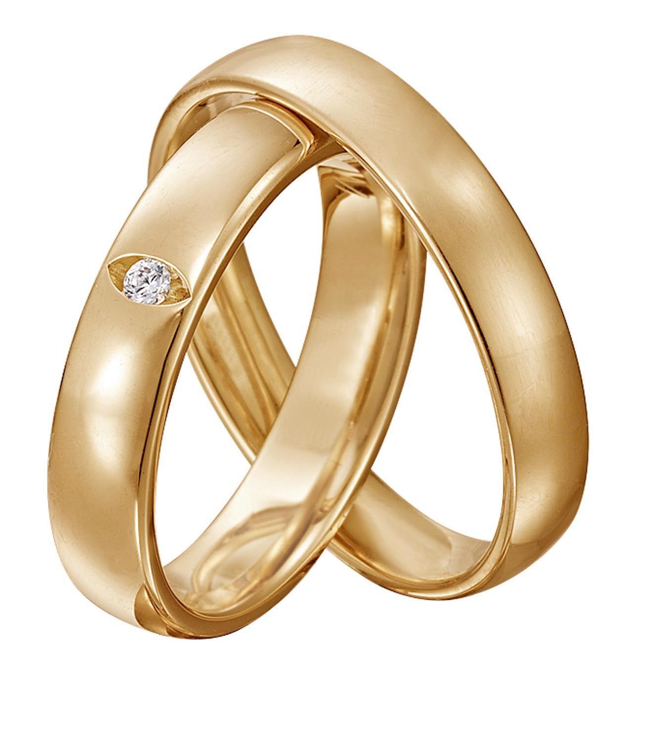 Christ Trauringpaar Gelbgold - Heiraten mit braut.de  Hochzeit