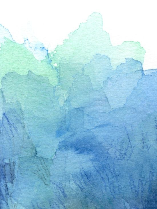 Abstract Watercolor Texture Blue Green Olechka Society6 With
