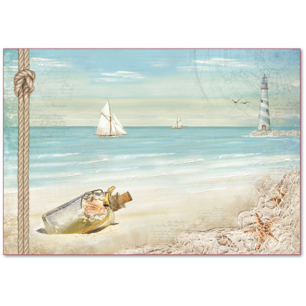 4 x Single Paper Napkins for Decoupage Crafting Boat Weather Sea 28
