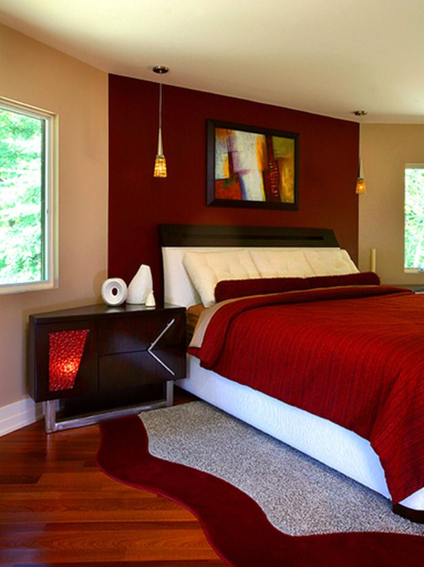 I Am Loving This Red Bedroom When Typically I Wouldn T I Believe