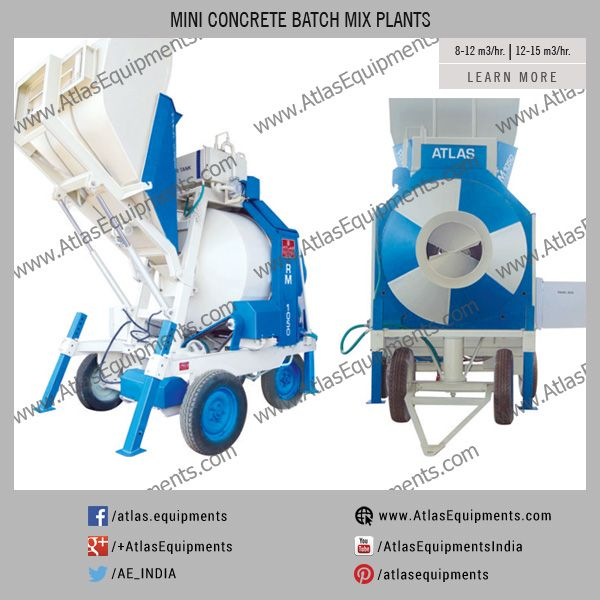 Mini Concrete Mixer For Sale In India Atlas Mini Concreteplant Is With Weighing System For Aggregate Sand Cemen Concrete Mixers Concrete Road Construction