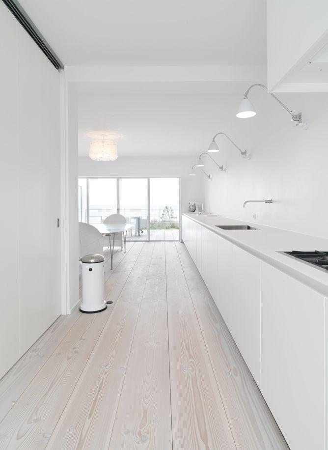 Extra Long Work Top With Beautiful Wooden Dinesen Floor. Designer Unknown.