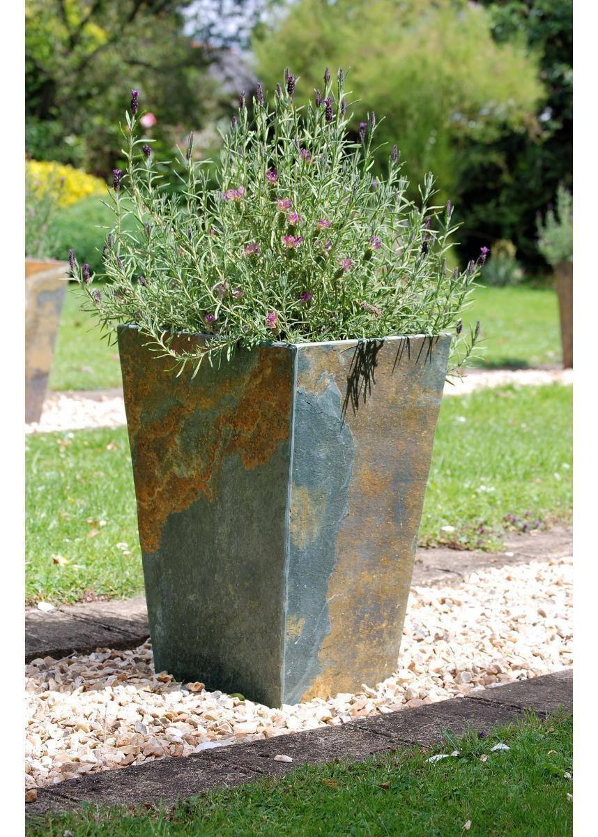 Natural Quarried Slate Planter Garden Planters Pots Flower Bo