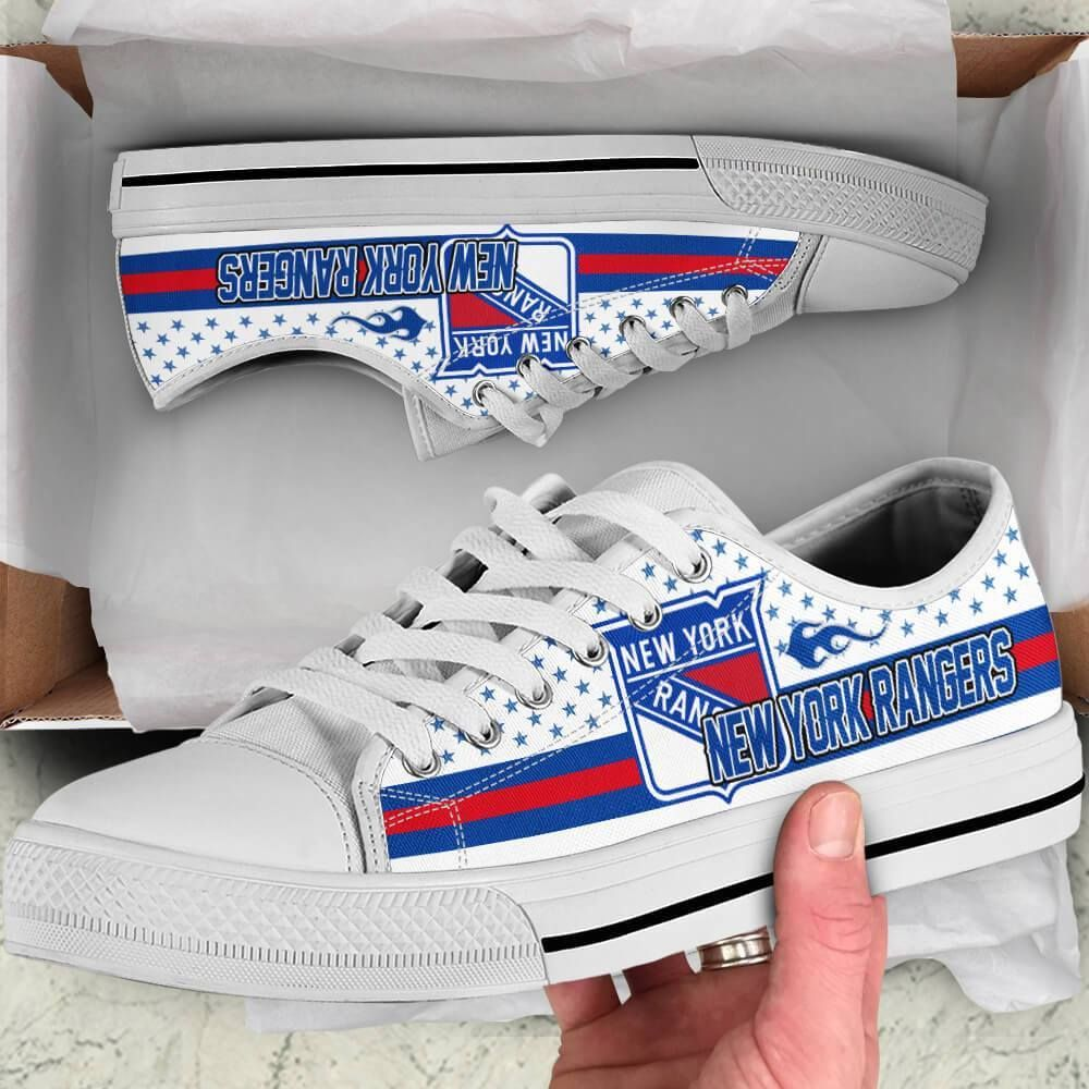 New York Rangers Legend Since 1926 NHL Hockey Teams White Low Top Shoes - Geek Tarven     Shipping