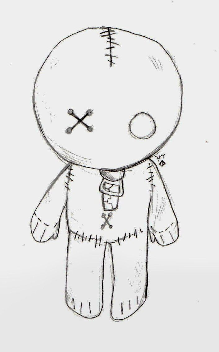 Doll Drawing Easy : drawing, Drawings,, Scary, Drawings